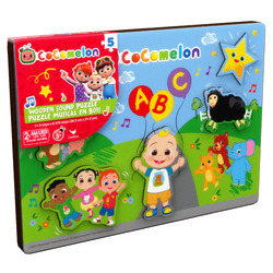 Cocomelon Wooden Musical 5 Jumbo Piece Jigsaw Puzzle