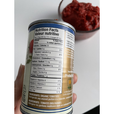 Kirkland Signature Organic Tomato Paste, 6oz cans, 12-Count [1]