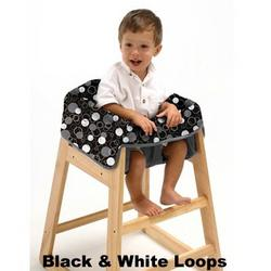 Babe Ease The Chic Clean Diner Highchair Cover, Black/White