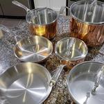 KitchenAid Tri-Ply 10-Piece Cookware Set, Satin Copper