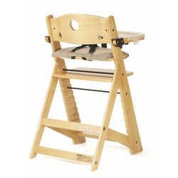 Keekaroo Natural Height Right High Chair with Tray