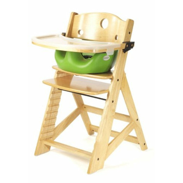 Keekaroo Height Right High Chair, Infant Insert and Tray Combo, Natural/Lime