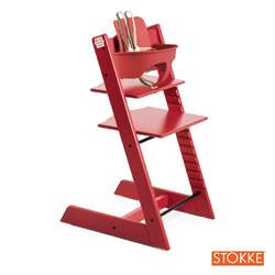 Stokke Tripp Trapp High Chair & Baby Set Bundle (Red)