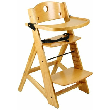 Keekaroo Adjustable Height Right Wood High Chair with Tray