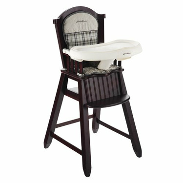 Eddie Bauer Newport Collection Wood High Chair, Stonewood