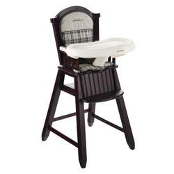 Eddie Bauer Newport Collection Wood High Chair, Stonewood