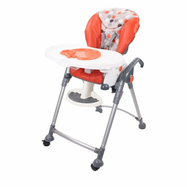 Combi 3-in-1 Hero: High Chair, Booster, Toddler Seat in Mandarin