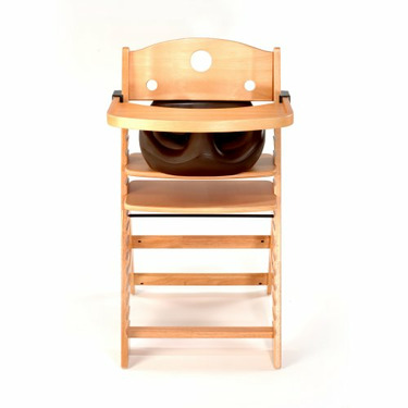 Keekaroo High Chair and Infant Insert Tray, Chocolate