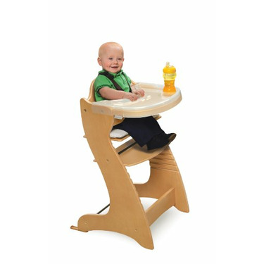 Badger Basket Embassy Wood Baby High Chair with Tray, Natural