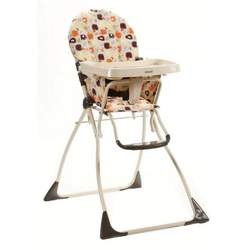 Cosco Juvenile Flat Fold Fruity Jungle Plastic High Chair