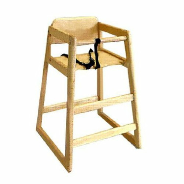 L.A. Baby Hard Wood Youth Pull Up to Table High Chair in Golden Natural