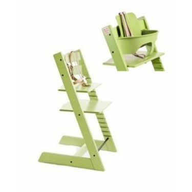 Stokke Tripp Trapp Trend Highchair In Green With Baby Set
