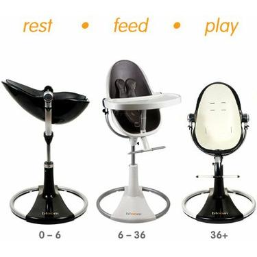 Bloom Fresco Loft High Chair - White / Midnight Black