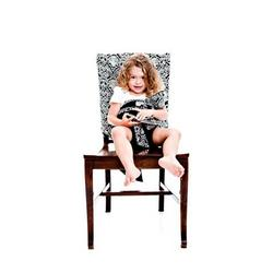 Tie Chair in Black Damask
