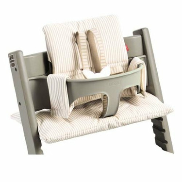 Stokke Tripp Trapp Cushion in Beige Stripe
