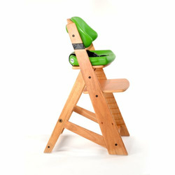 Keekaroo Height Right Kids High Chair with Comfort Cushions, Natural/Lime