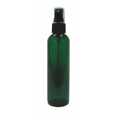 Green PET Cosmo Plastic Bottle 4oz w/ Black Atomizer ( 3 Bottles Pack)