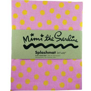 Mimi The Sardine Spillmat with Dots Design, Pink/Yellow