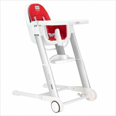 Inglesina Zuma Folding Plastic High Chair in Red