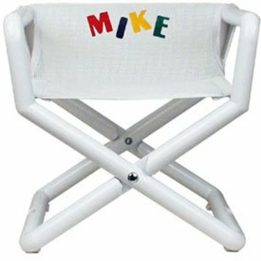 Personalized Jr Director's Chair - Color: White Mesh