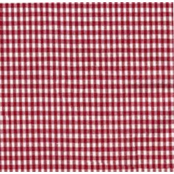 High Chair Cushions w/ Cording - Color Red Gingham
