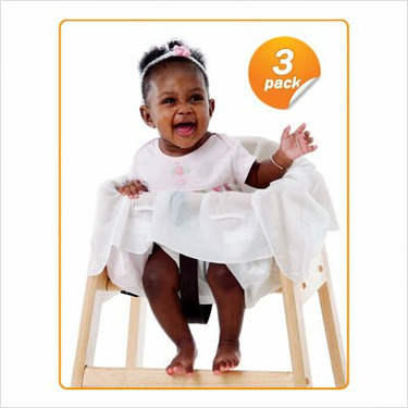 Clean Diner Disposable High Chair Cover (Set of 3)
