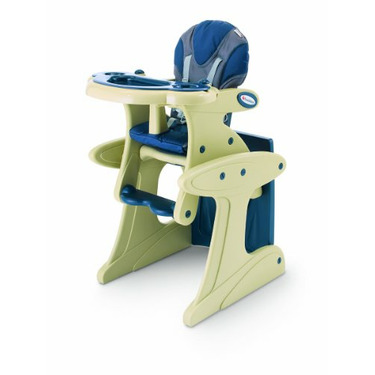 Foundations Transitions High Chair, Blue/Almond
