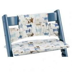 Premium Tripp Trapp High Chair Cushion Color: Blue Tales (Coated)