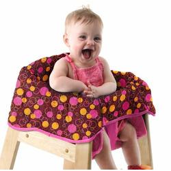 Babe Ease The Chic Clean Diner Loop D Loop Highchair Cover, Brown/Pink
