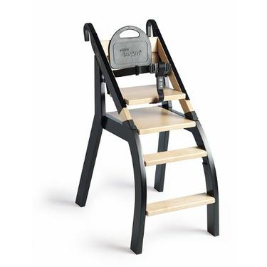 minui HandySitt High Chair w/ detachable Portable Seat (Birch/Black)