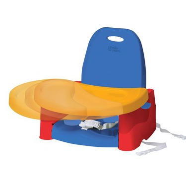 The First Years Swing Tray Portable Booster Seat Blue & Red