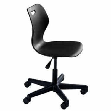 Intellect Wave Pedestal Chair In Black