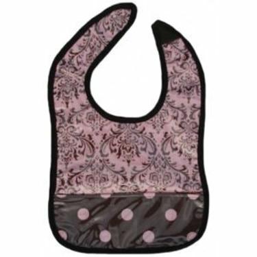 Provencial Pink Easy-Wipe Feeding Bib
