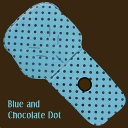 Blue & Chocolate Dot Universal Fit Cover