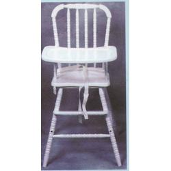 Wooden Baby / Infant / Toddler Highchair - White