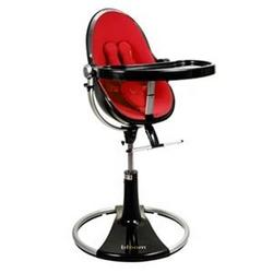 Bloom Fresco Loft High Chair - Ebony with Rock Red (Leatherette) Seat Pad