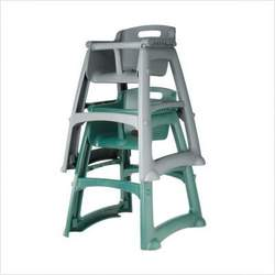 Sturdy High Chair with Wheels (Dark Green)
