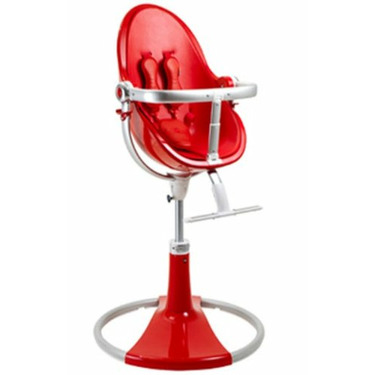 Bloom Fresco Fiamma Limited Edition High Chair with Rock Red (Leatherette) Seat Pad