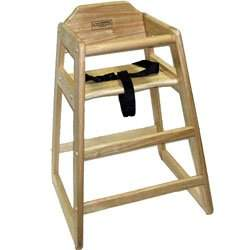 Natural Finish Children's Wood High Chair