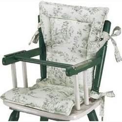 High Chair Cushions w/ Cording - Color Black Toile