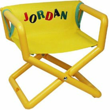Personalized Jr Director's Chair - Color: Yellow Mesh