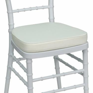 White Chiavari Chair Cushion for Wood / Resin Chiavari Chairs [LE-L-C-WHITE-GG]