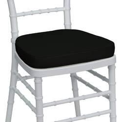 Black Chiavari Chair Cushion for Wood / Resin Chiavari Chairs [LE-L-C-BLACK-GG]