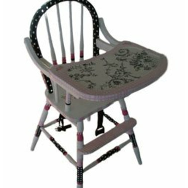 Pink Toile High Chair
