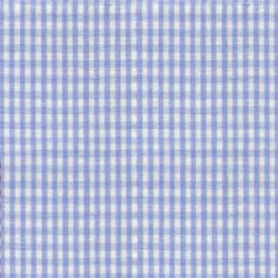 High Chair Cushions w/ Cording - Color Light Blue Gingham