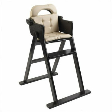Anka by Svan Convertible Folding Wood High Chair in Espresso