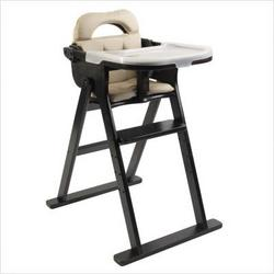 Anka by Svan Convertible Folding Wood High Chair in Espresso