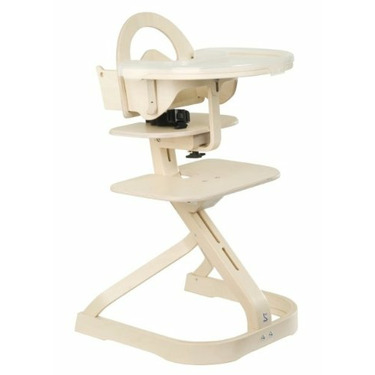 High Chair with Tray Cover Whitewash