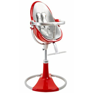 Bloom Fresco Fiamma Limited Edition High Chair with Lunar Silver (Leatherette) Seat Pad