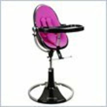 Bloom Black Fresco Loft Plastic Baby Chair in Rosy Pink